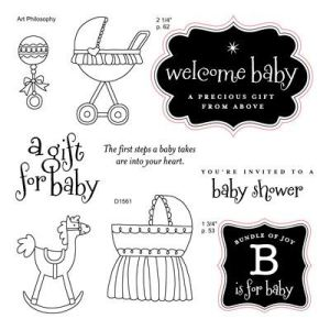 D1561 B is for Baby Acrylix Stamp Set