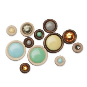Z1869 Babycakes Wood Badge Buttons Assortment