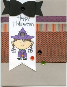 Halloween Girl Card